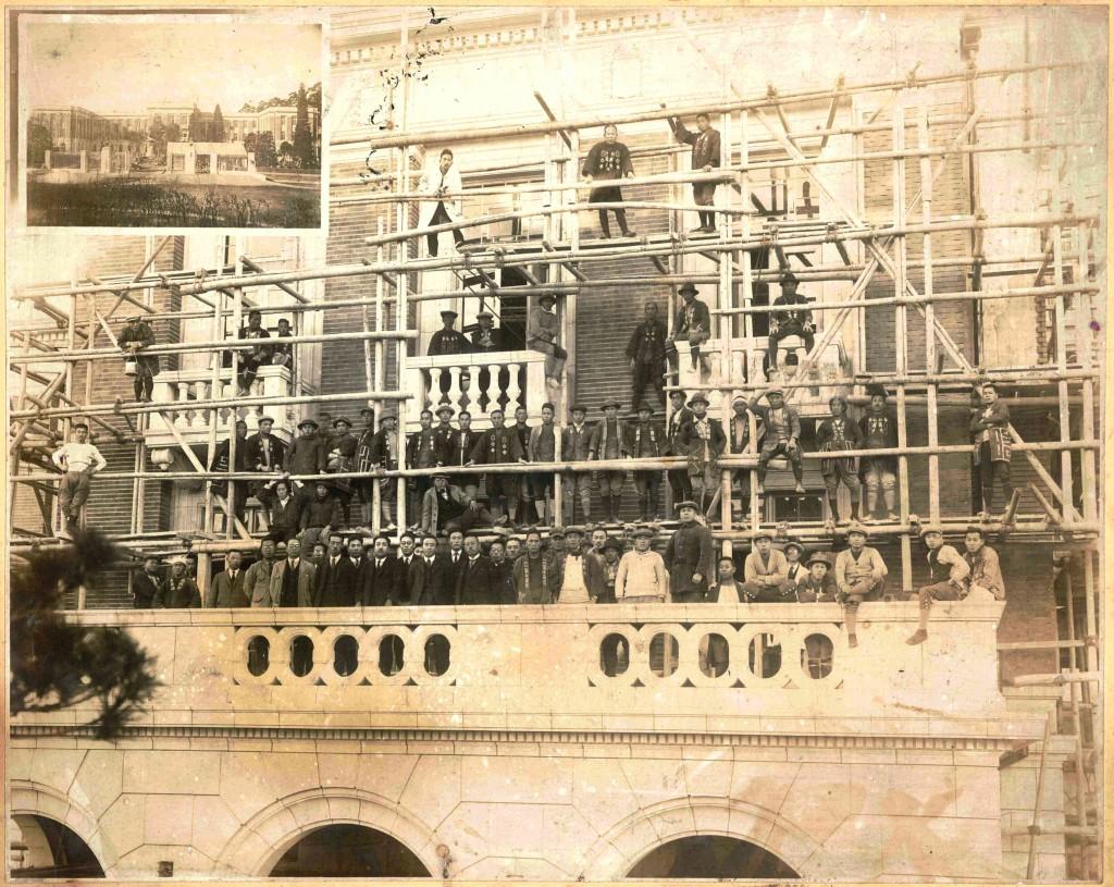 群馬県庁昭和庁舎建設記念写真