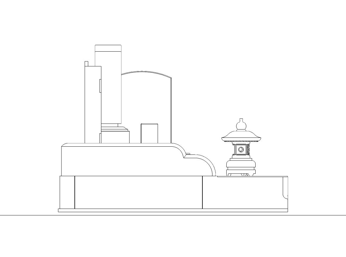 6尺×7尺位牌型左側面図