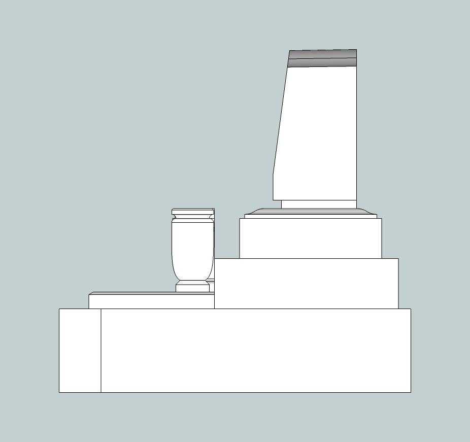 3.7×4.2横型墓右側面図