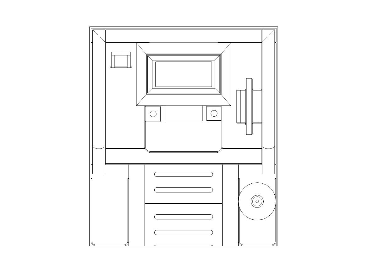 6尺×7尺位牌型平面図