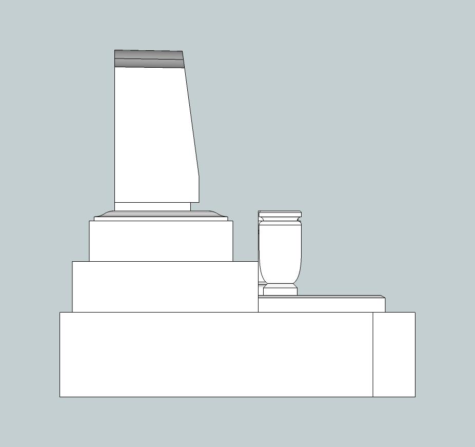 3.7×4.2横型墓左側面図