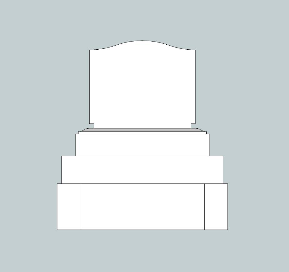 3.7×4.2横型墓地背面図