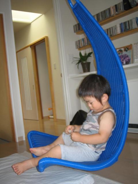 吊るす椅子