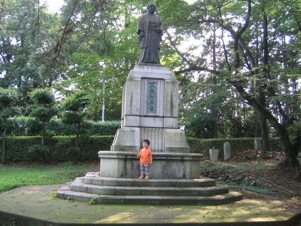 初代高崎市長矢島八郎翁の銅像2