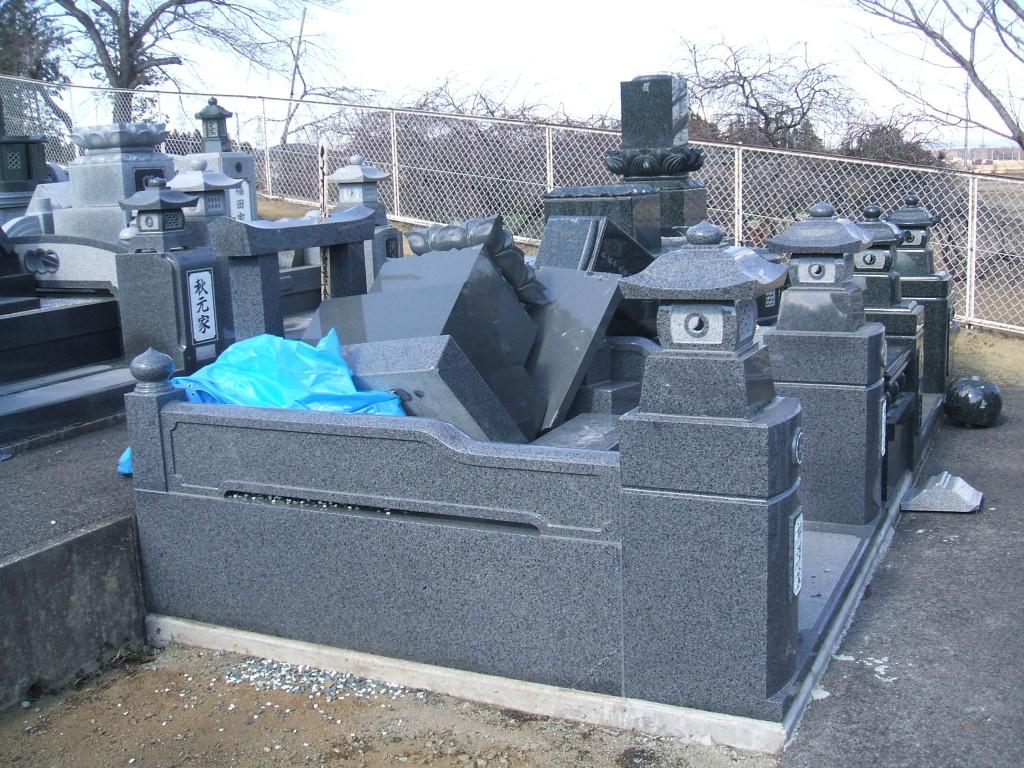 墓地倒壊8