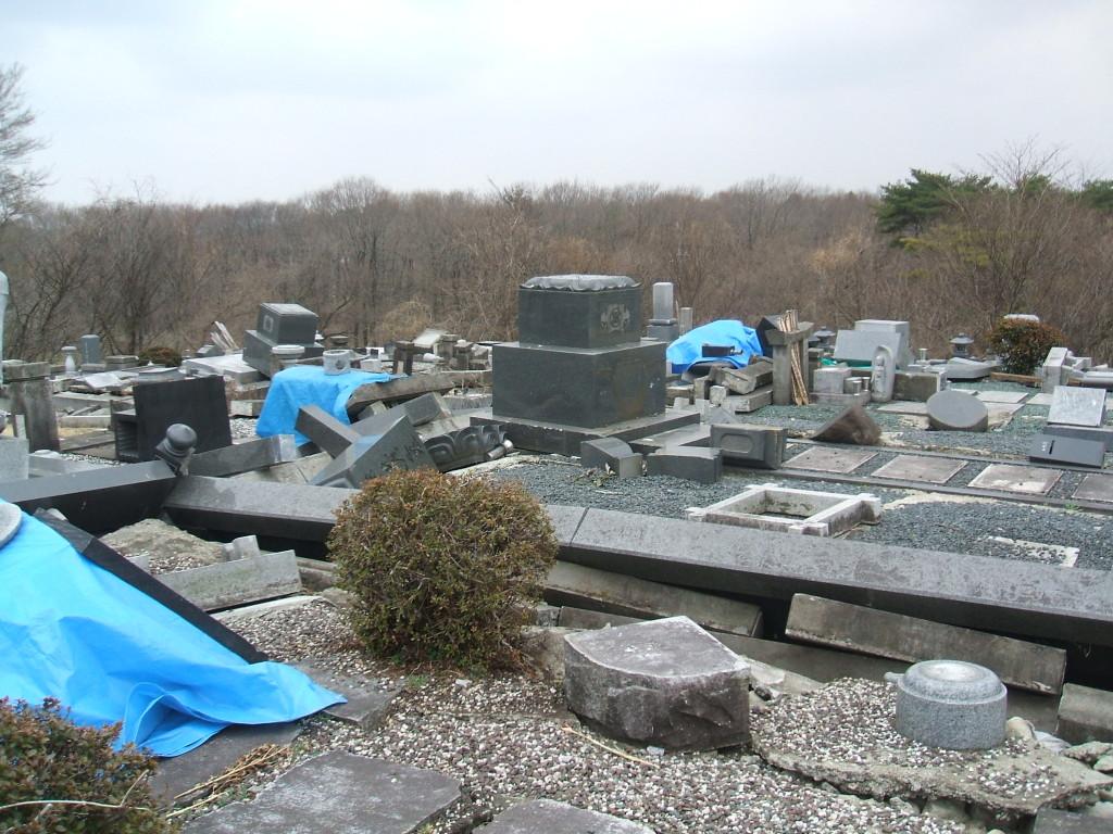 墓地倒壊7