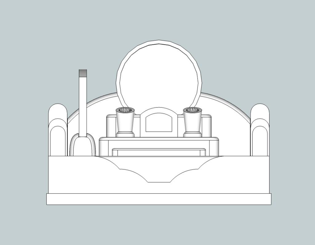 デザイン墓石正面図