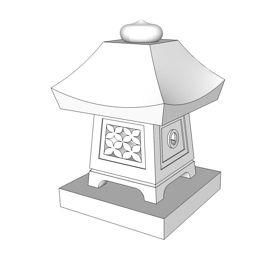 長沼型角置型灯篭