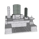 6尺×7尺位牌型墓地カラー図面
